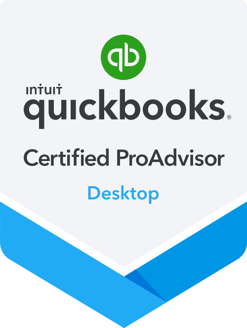 photo of quickbooks certification badge